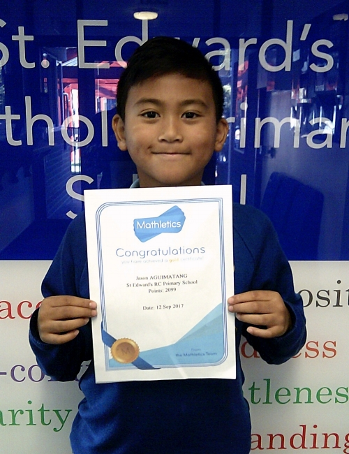 Congratulations to Jason for being awarded with a gold Mathletics certificate this week! Well done!