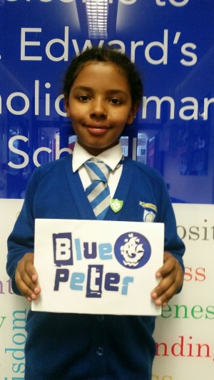 Special Congratulations to Grace on being awarded a Blue Peter badge!
