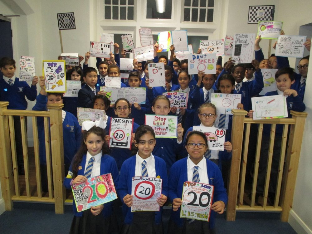 Year 6 designed colourful and informative Road Safety posters.