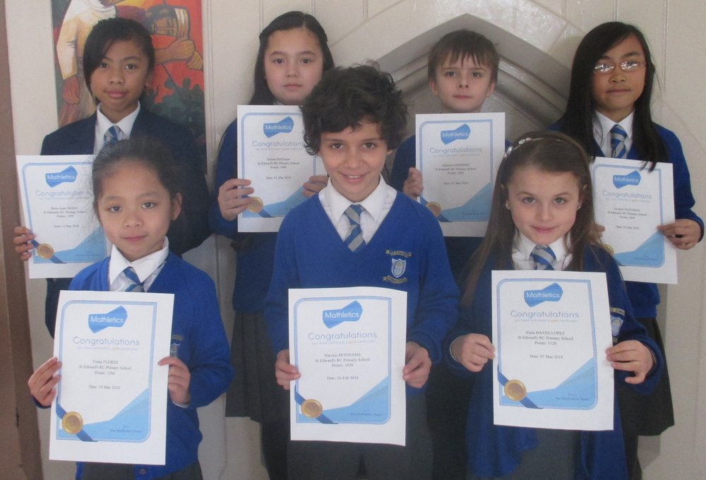 Congratulations to Ruby Ann, Selena, Mateusz, Jonabel, fiona, Niklas and Niala on being awarded their gold Mathletics certificates!