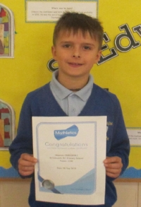 Mateusz is the proud recipient of a silver Mathletics certificate. Well done!