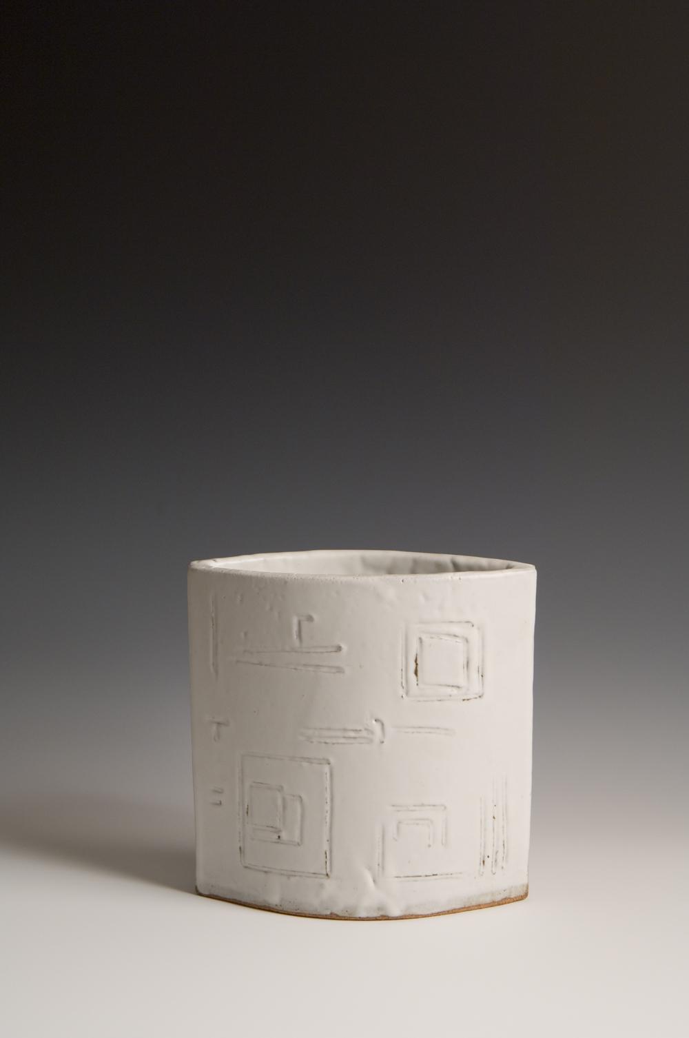 White Glyph Vase
