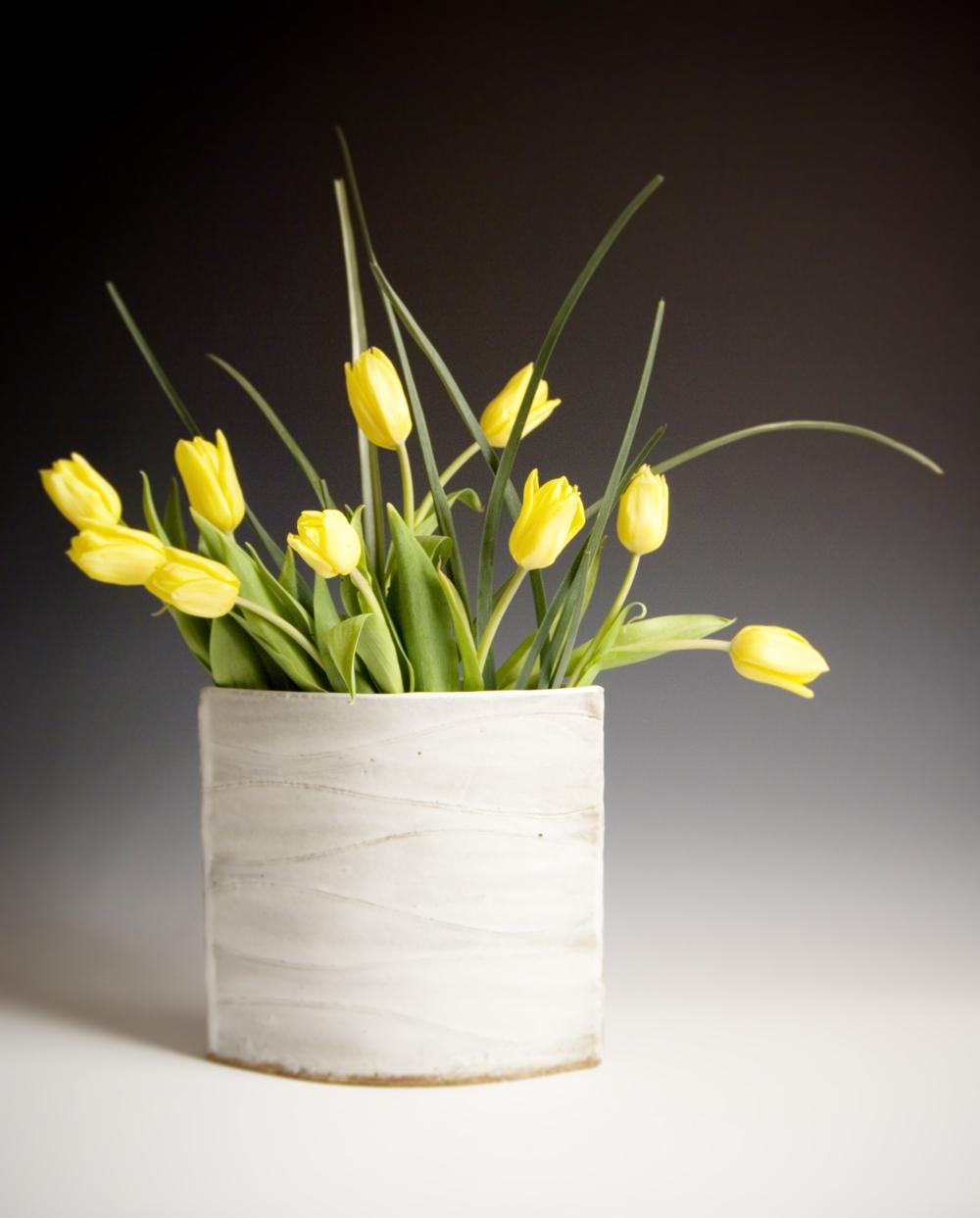 White Wave Vase
