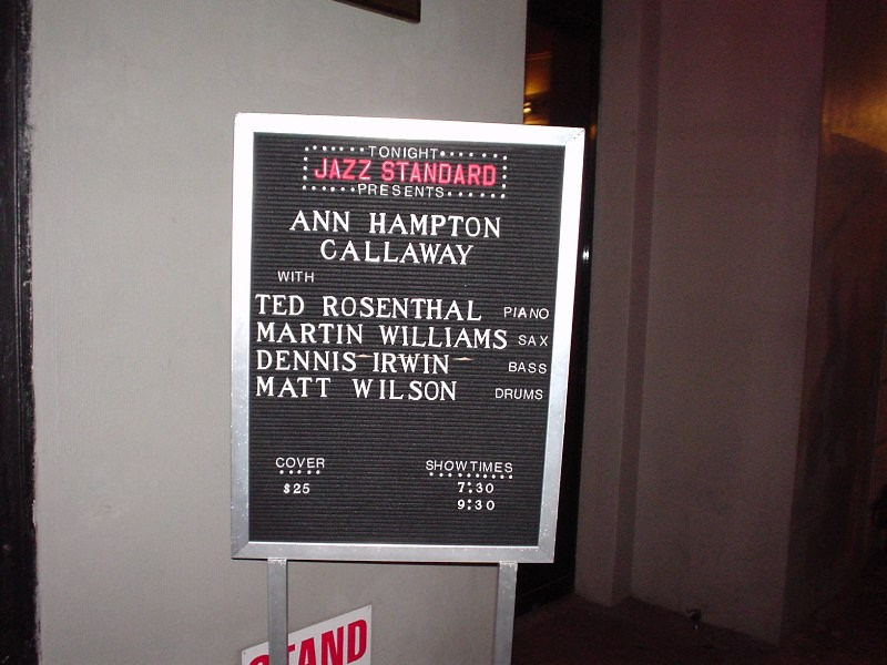 Ann Hampton Callaway ,  Jazz Standard,  New York, 2002