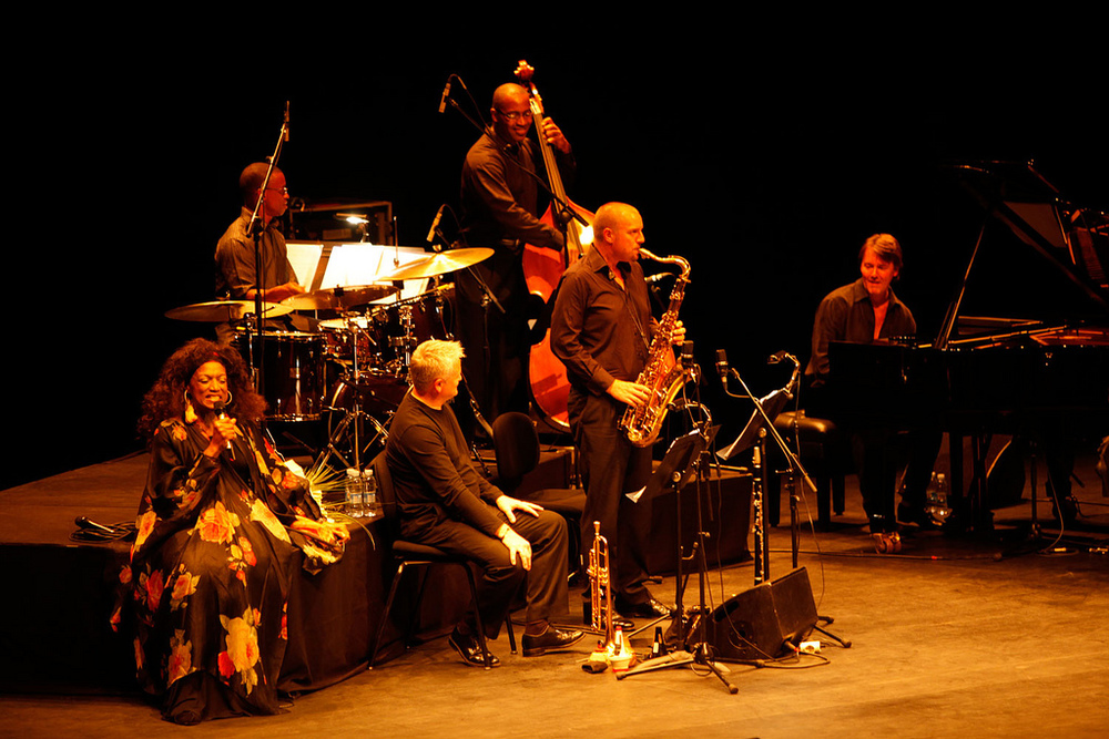 Jessye Norman, San Sebastian, 2010. Jessye Norman, Clayton Cameron, Mike Lovatt, Trevor Ware, MW, Mark Markham