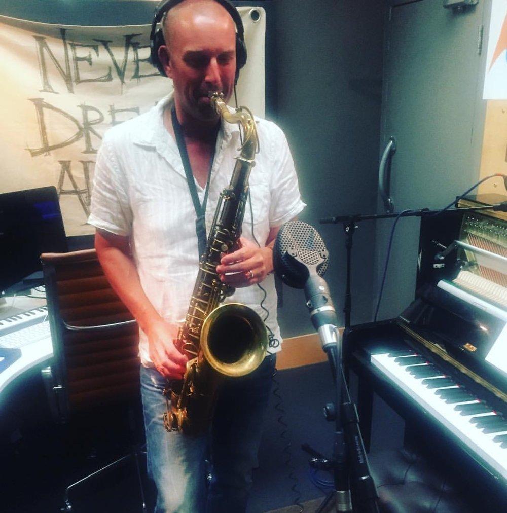 Saxophone solo for Stormzy album, Matrix Studios, August 2016