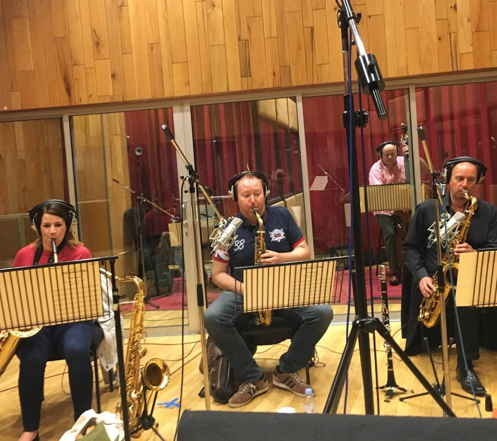Recording the score for Halcyon (ITV). Angel Studios, September 2016. Claire McInerney, Howard McGill, MW