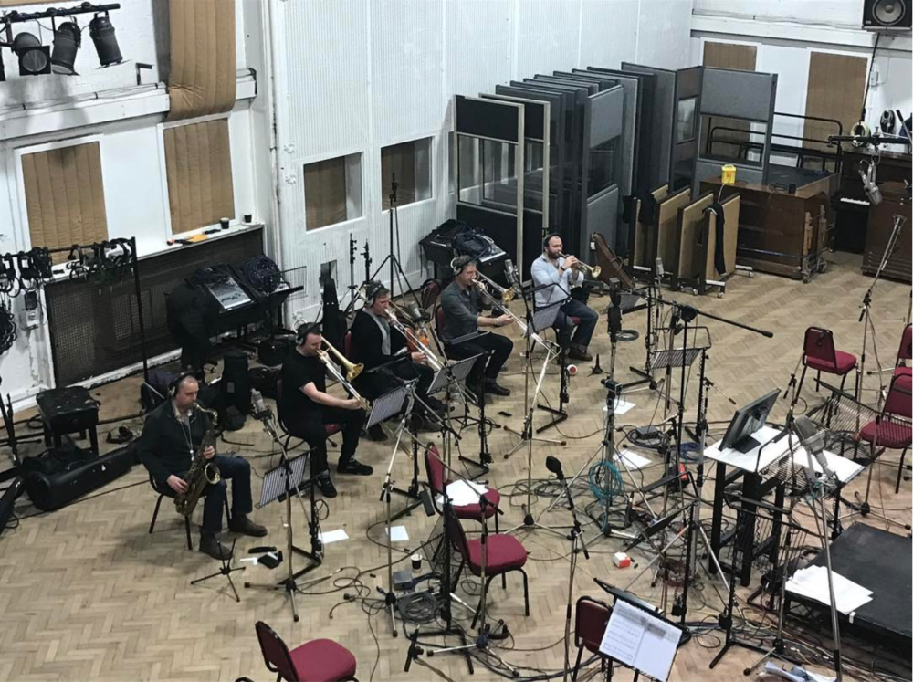 Recording brass with alt-J. Abbey Road Studio 2, January 2017