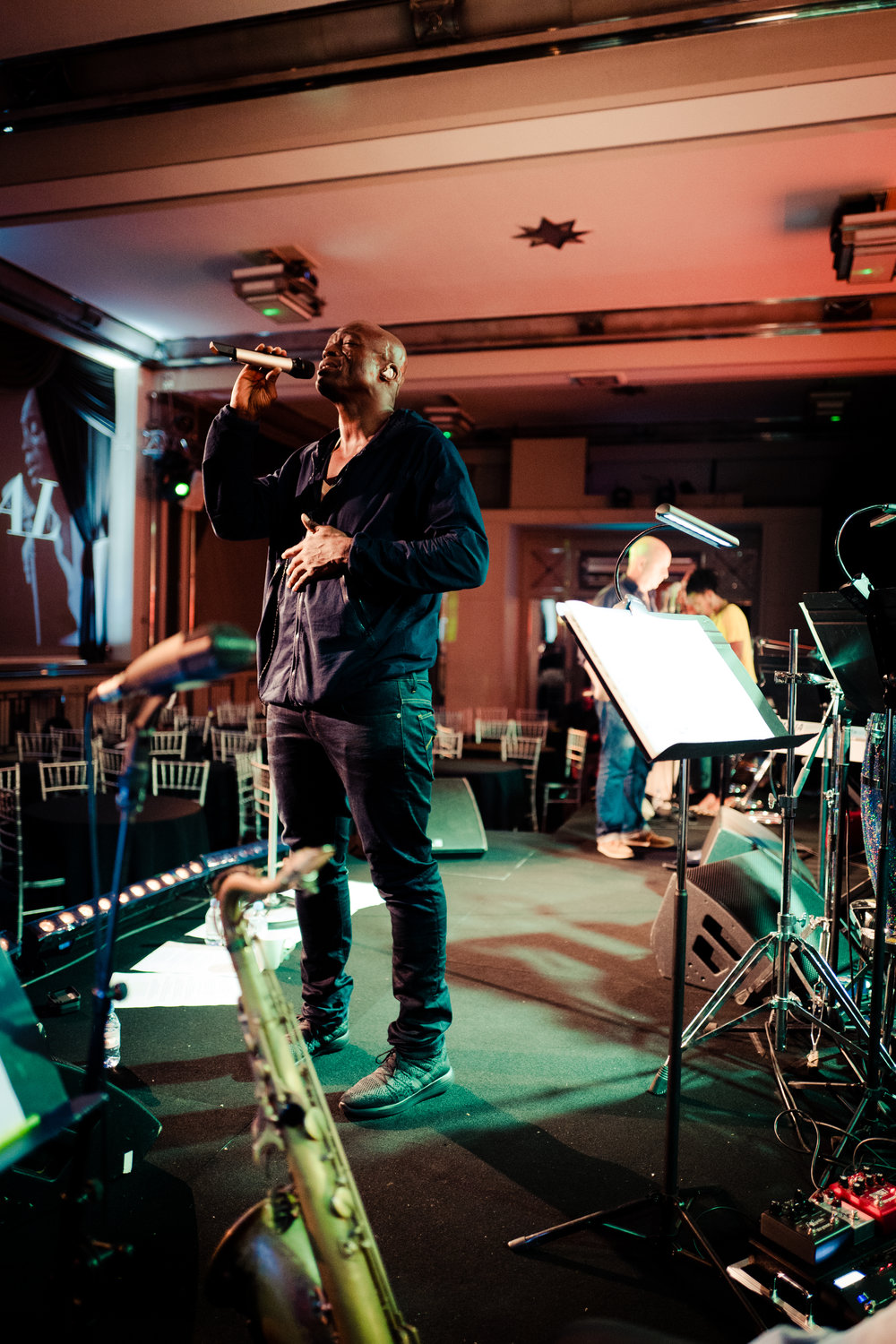 Rehearsing with Seal, September 2017