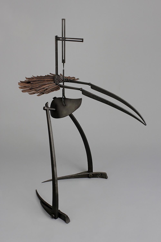 head feathers - mild steel, copper, 2013