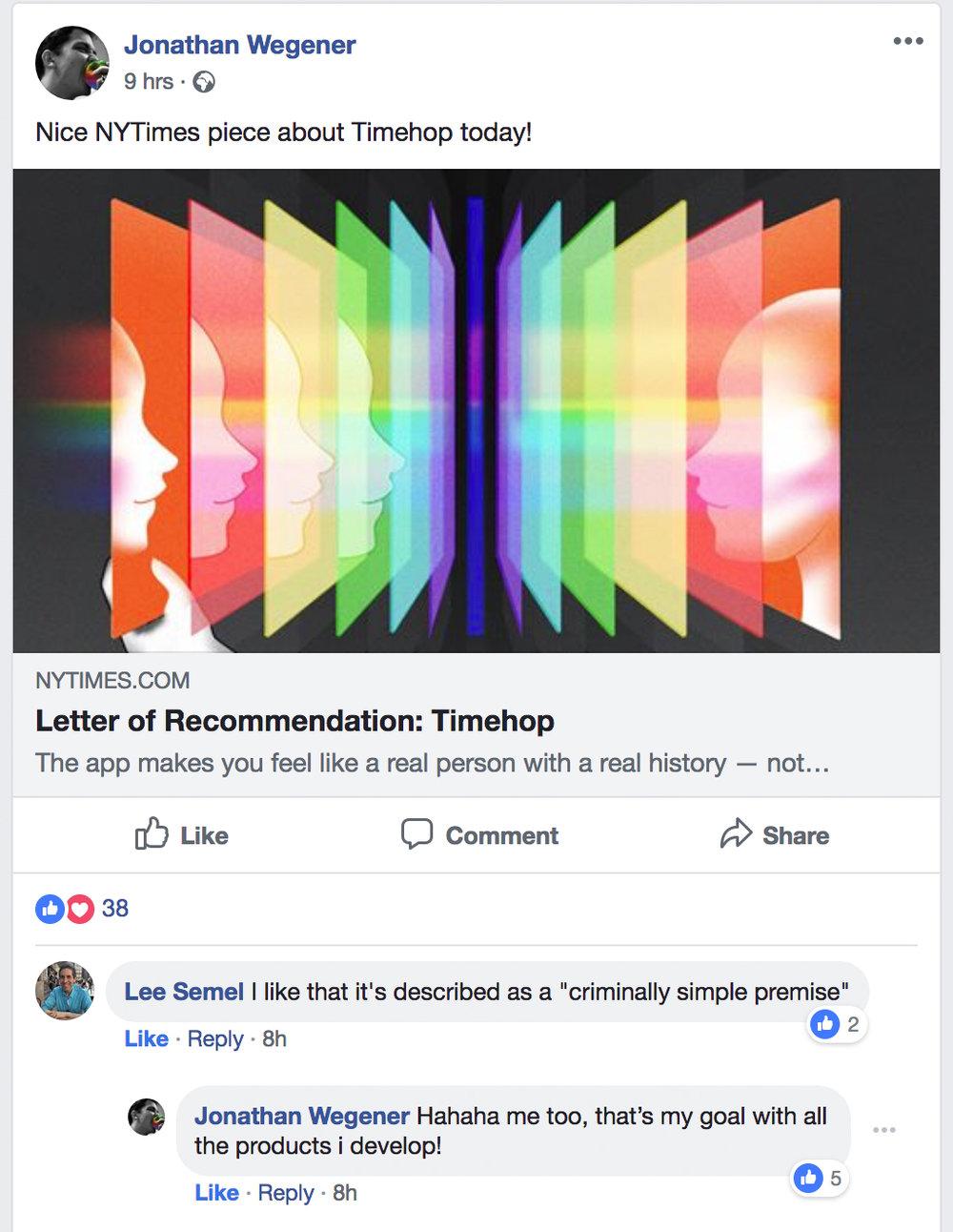 """Lee Semel:  Tetszik, hogy úgy jellemezték, hogy """"kriminálisan egyszerű premisszára"""" épül  Jonathan Wegener:  Hahaha, nekem is, ez a célom minden termékkel amin dolgozom!"""