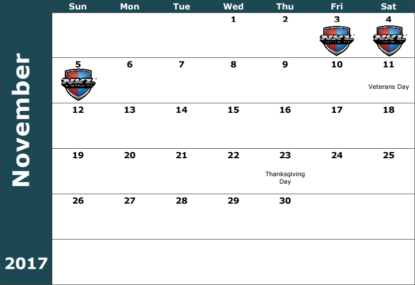 November 3-5- NXL World Cup