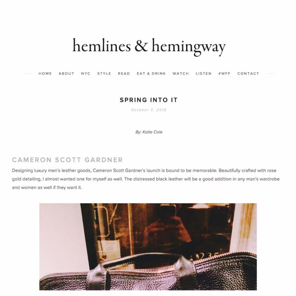 Hemlines and Hemingway