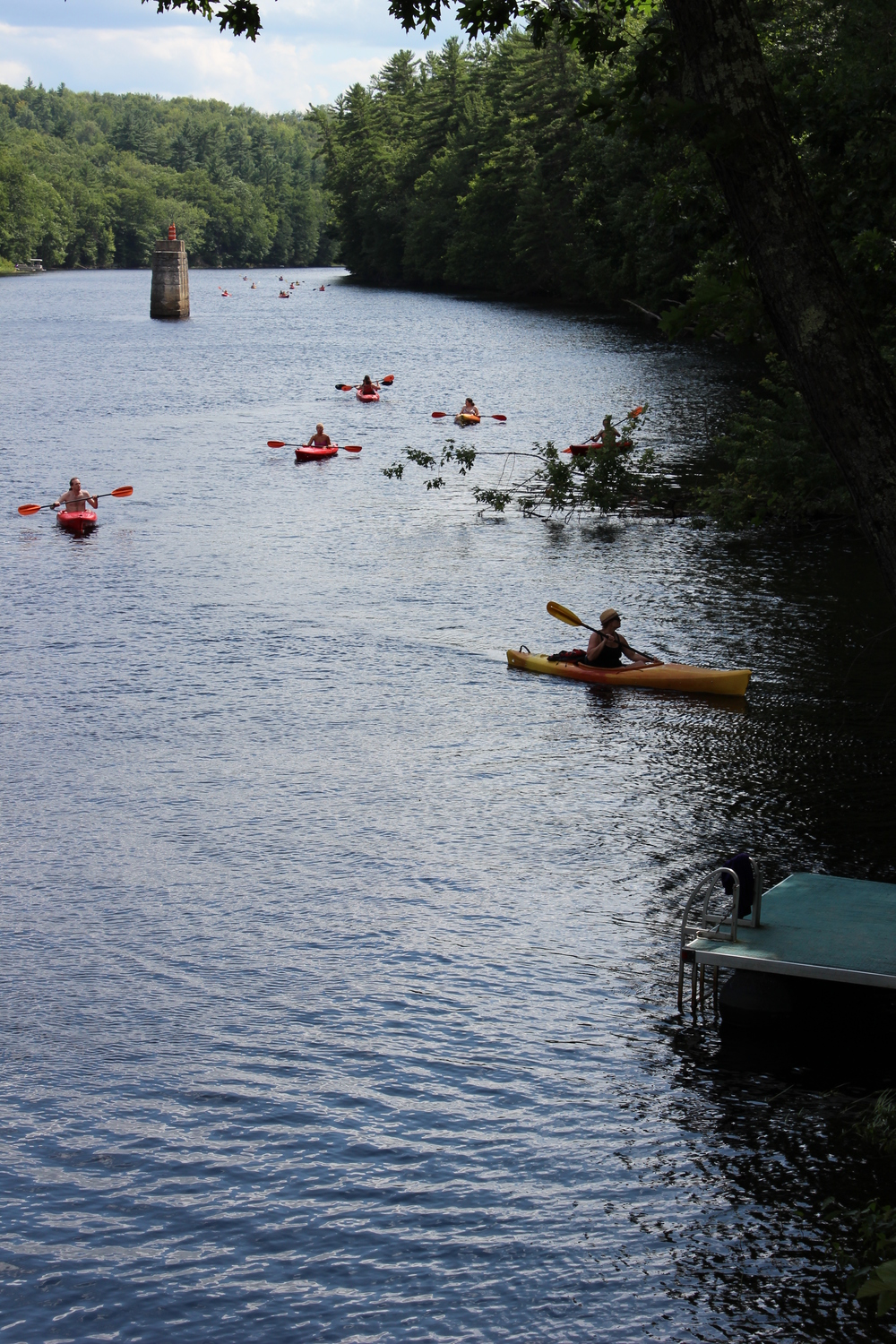 Kayakers on the Contoocook River, Concord, NH