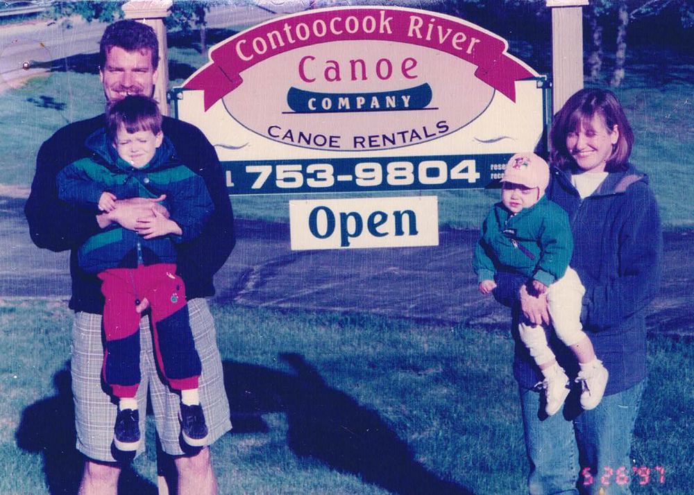The Malfait family on the first weekend of business in May of 1997. Our son Ryan (left) is now a junior in college and Jessica (right) will be heading to college this fall. Time flies!