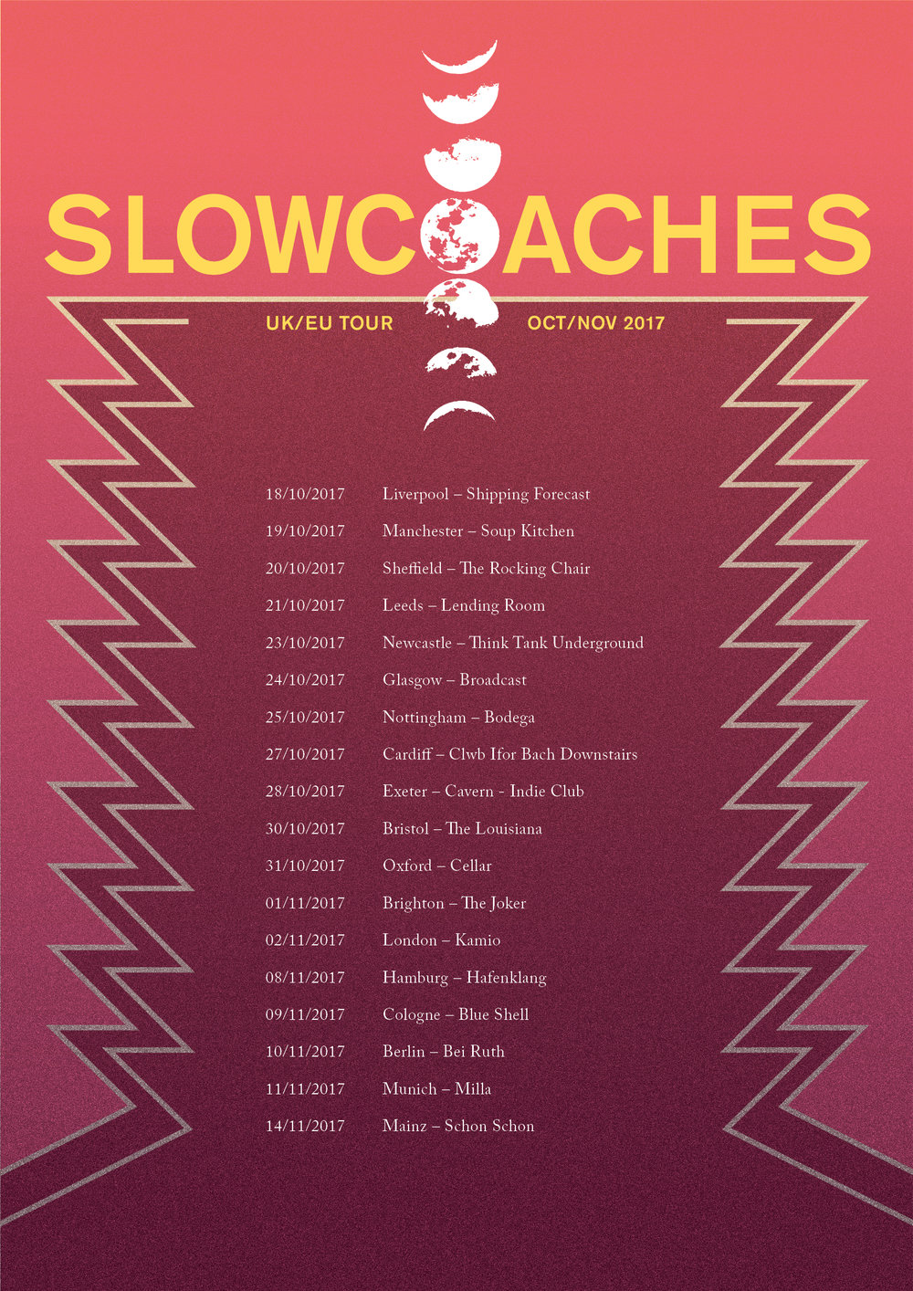 Slowcoaches tour poster