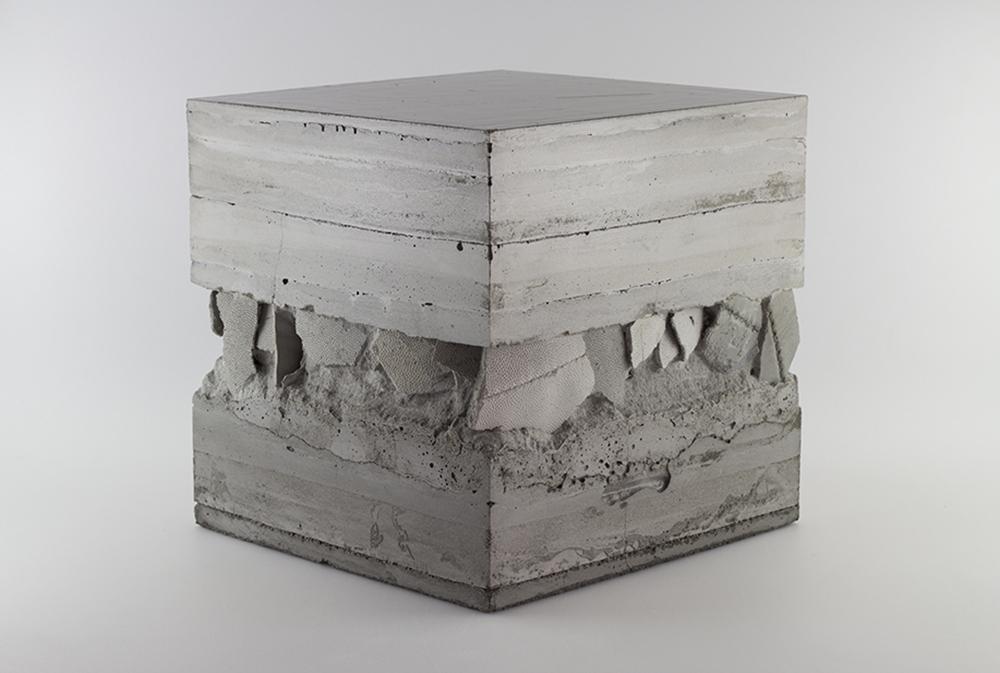 Strata (Op hierdie Rots) Concrete, pulverised sandstone, marble dust