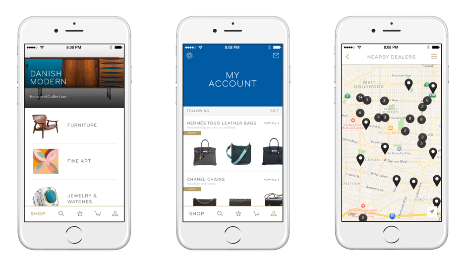 Customers can favorite products, follow dealers and searches and shop local stores.