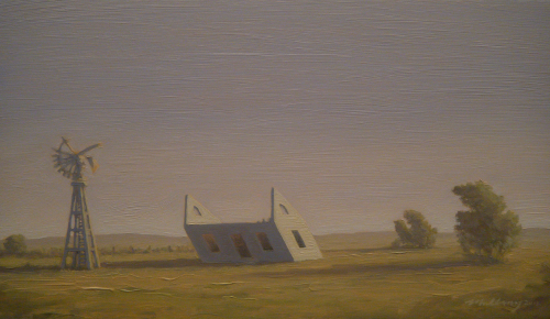 """Kansas Parallelogram"" Oil on panel 7 1/8"" x 12"""