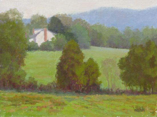 """Across the Field"", Oil on canvas"