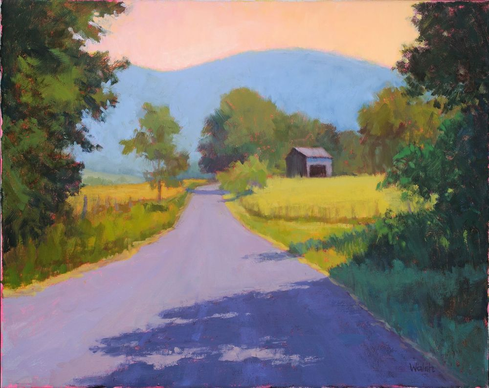 """Country Road"", Oil on canvas"
