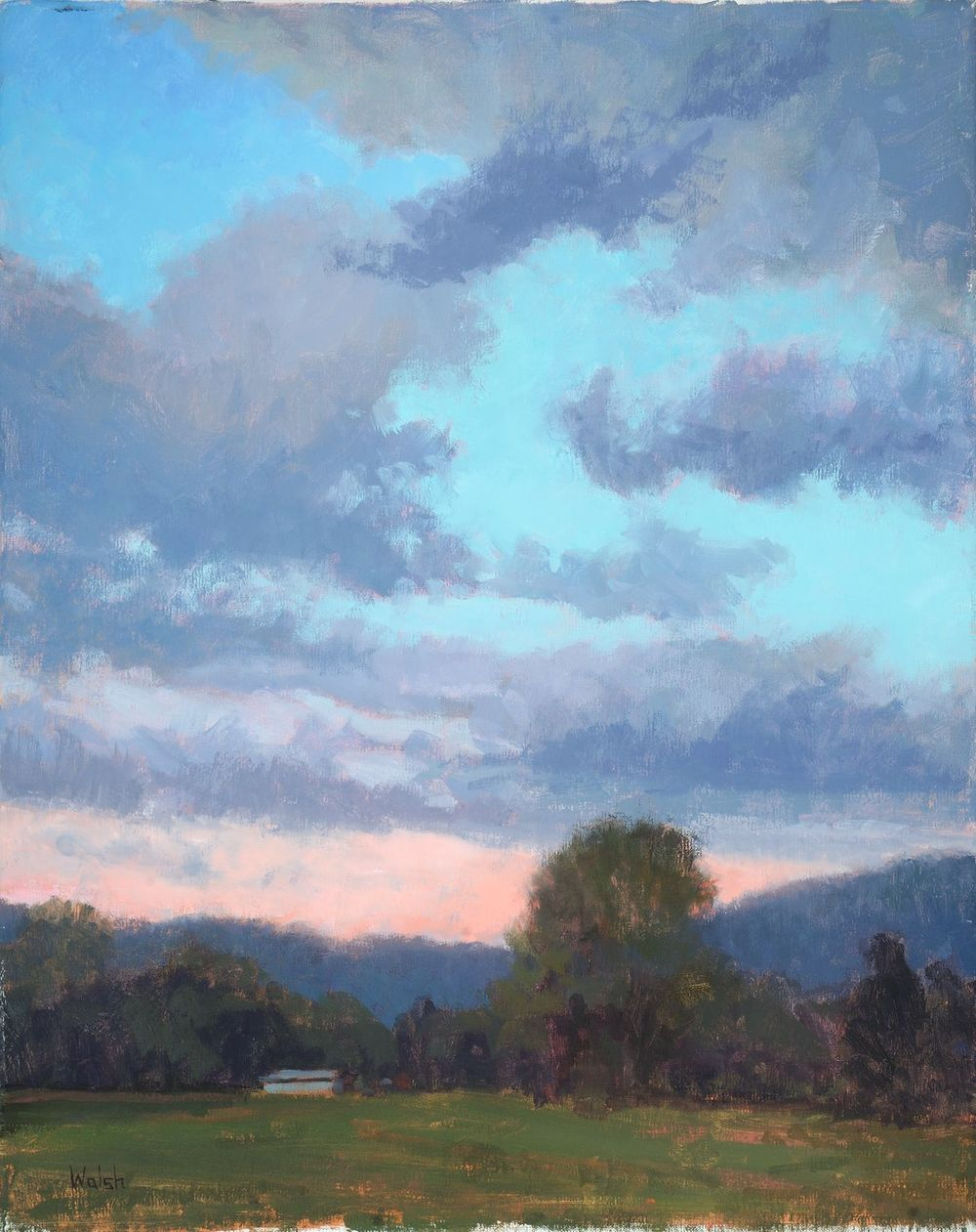 """Clearing Skies"", Oil on canvas"