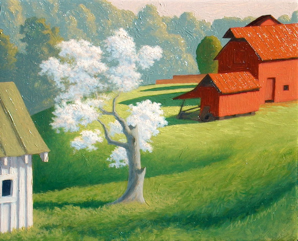 """Pear Tree"" Oil on panel"