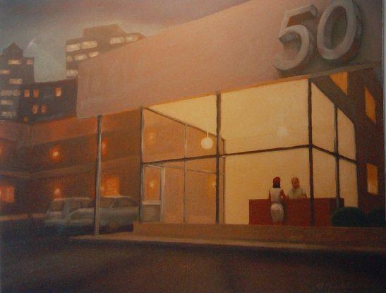 """Hotel 50"" Oil on panel"