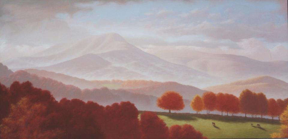 """Mt. Marshall, Rappahannock County"" Oil on canvas"
