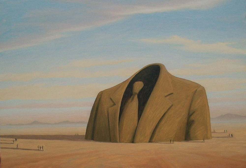 """Monument to the Invisible Man"" Oil on canvas"