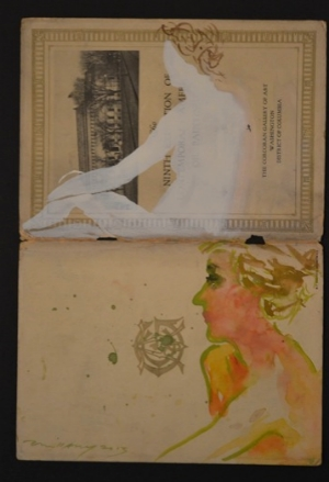 """Corcoran Studies"" Gouache on found paper"