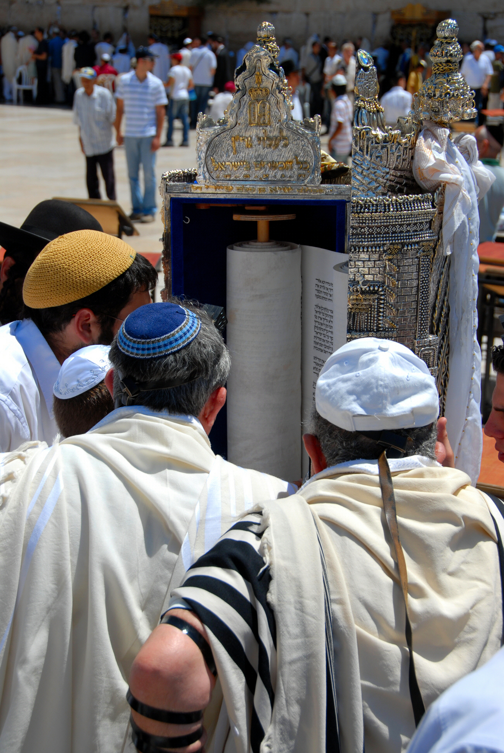 A Bar Mitzvah near the Wailing Wall in Jerusalem