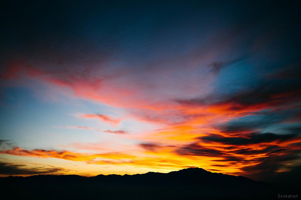 sunset joshua tree