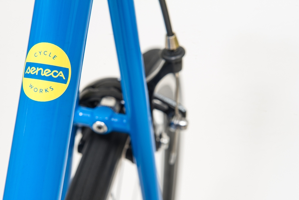 Seneca Cycle Works seat tube logo