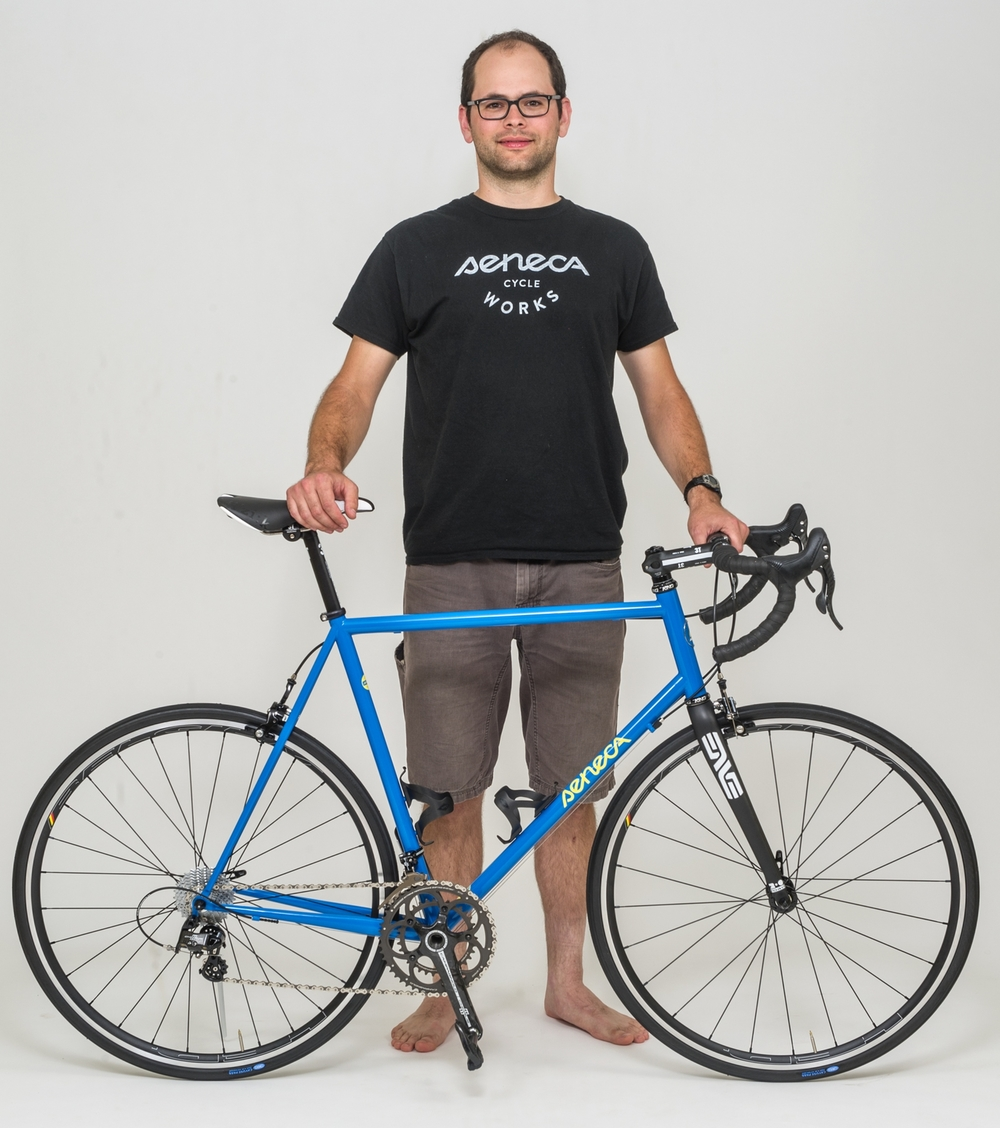 Jesse Fox, bicycle builder and owner of Seneca Cycle Works.