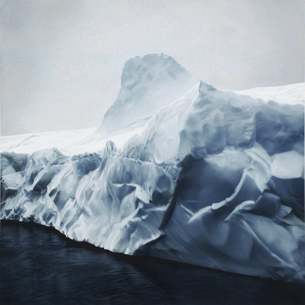 Greenland no.72, 60x60: Image courtesy of Zaria Forman