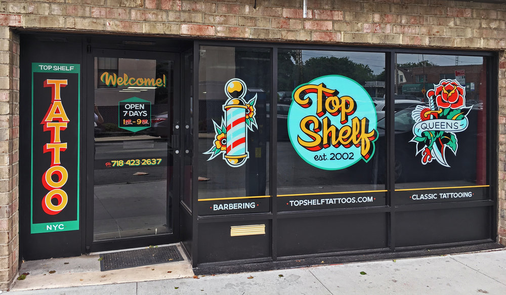 Top Shelf Tattoo Shop — Doug Aldrich Art & Design
