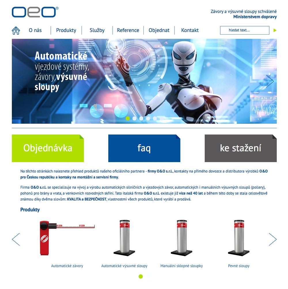 Náhled webu OeO - home page
