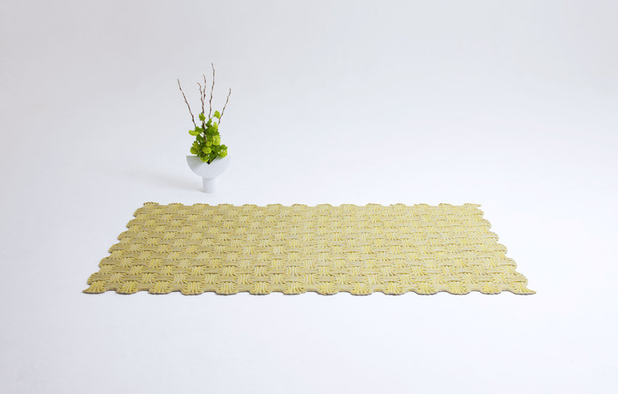 Gorelov's Tokio knitted rug. Visit  paulinegorelov.com