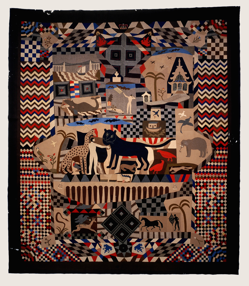 Patchwork Bedcover made by James Williams, Wrexham 1842-52  St Fagans: National Histroy Museum courtesy of The Tate Museum