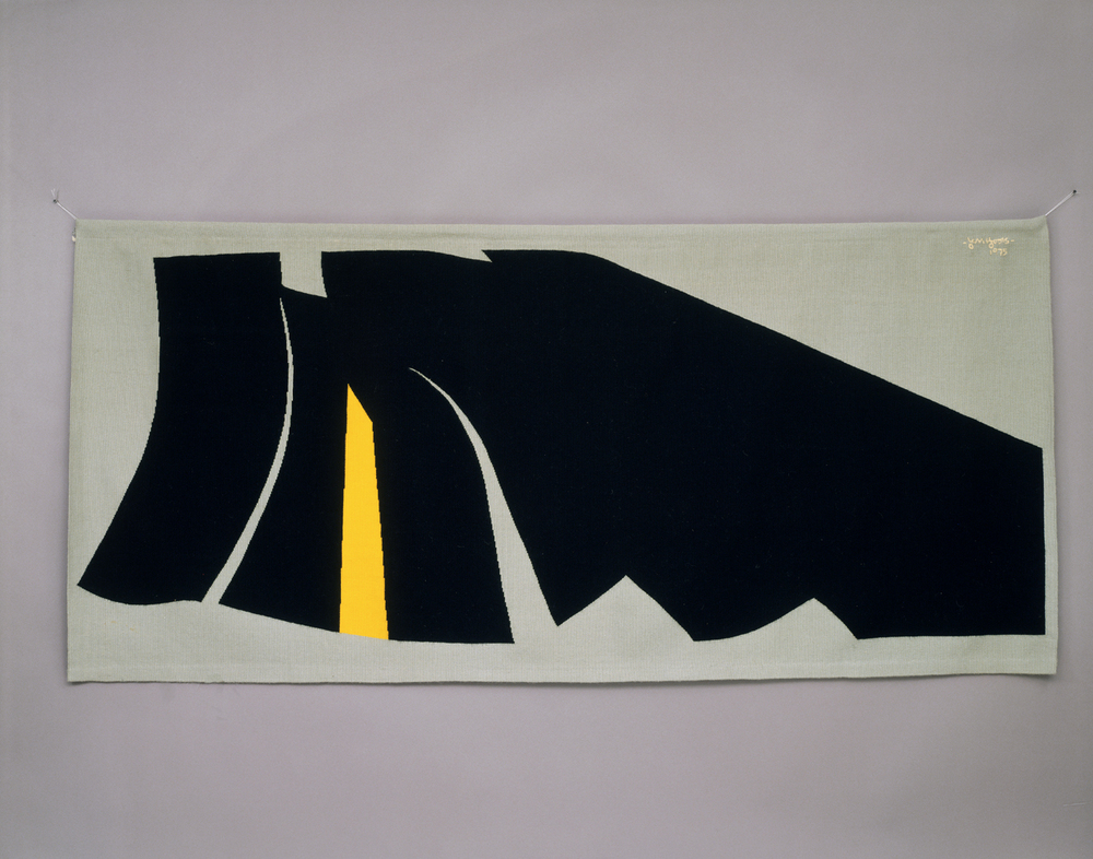 Tapestry, 1975   Image dimensions: 1273px  x  1000px Jan Yoors Marianne Yoors Handwoven wool  Gift of Mr. and Mrs. Bernard Sussman, 1993, Photo by Ed Watkins