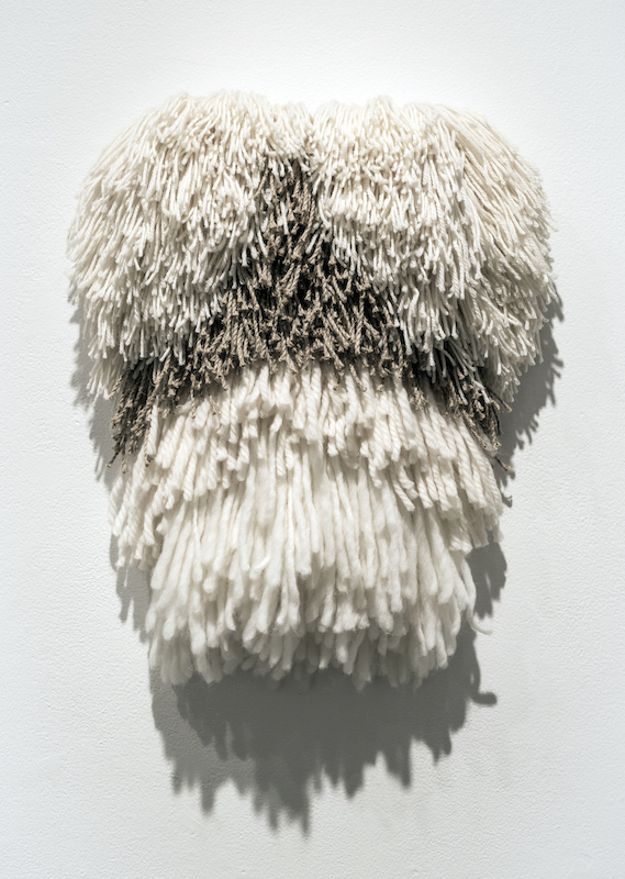 "Shag, merino, jute, 30"" x 16"", 2013, photo credit: Maria Minnelli"