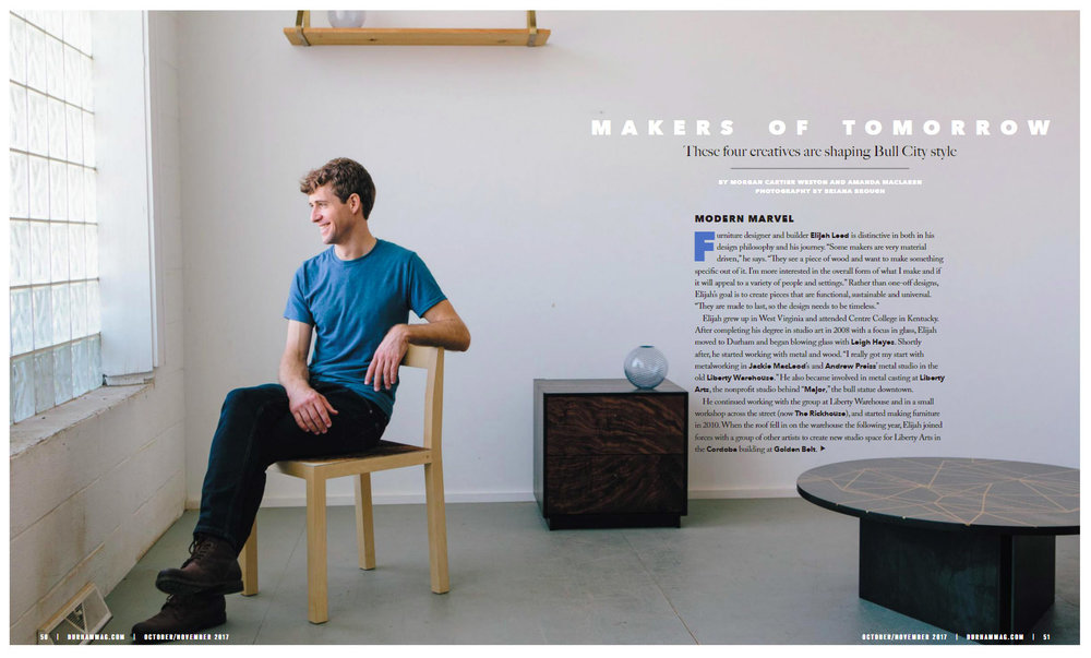 Durham Magazine  Oct/Nov 2017
