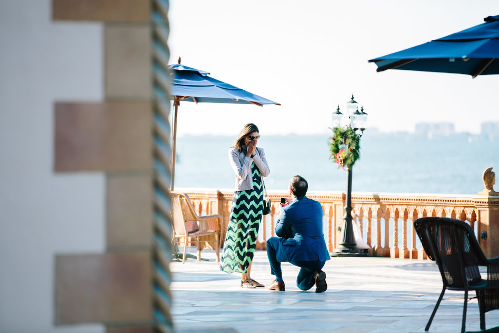 Cà d'Zan Ringling Surprise Proposal Engagement Pics Sarasota Florida