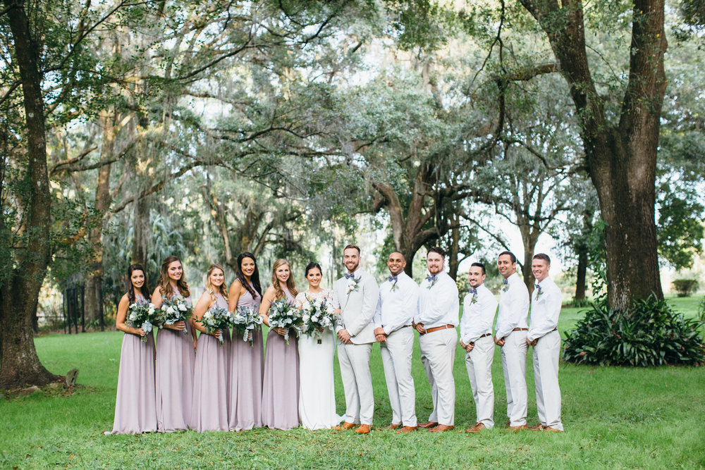 Wedding Bridal Party Plant City Florida Photographer Benjamin Hewitt Photography