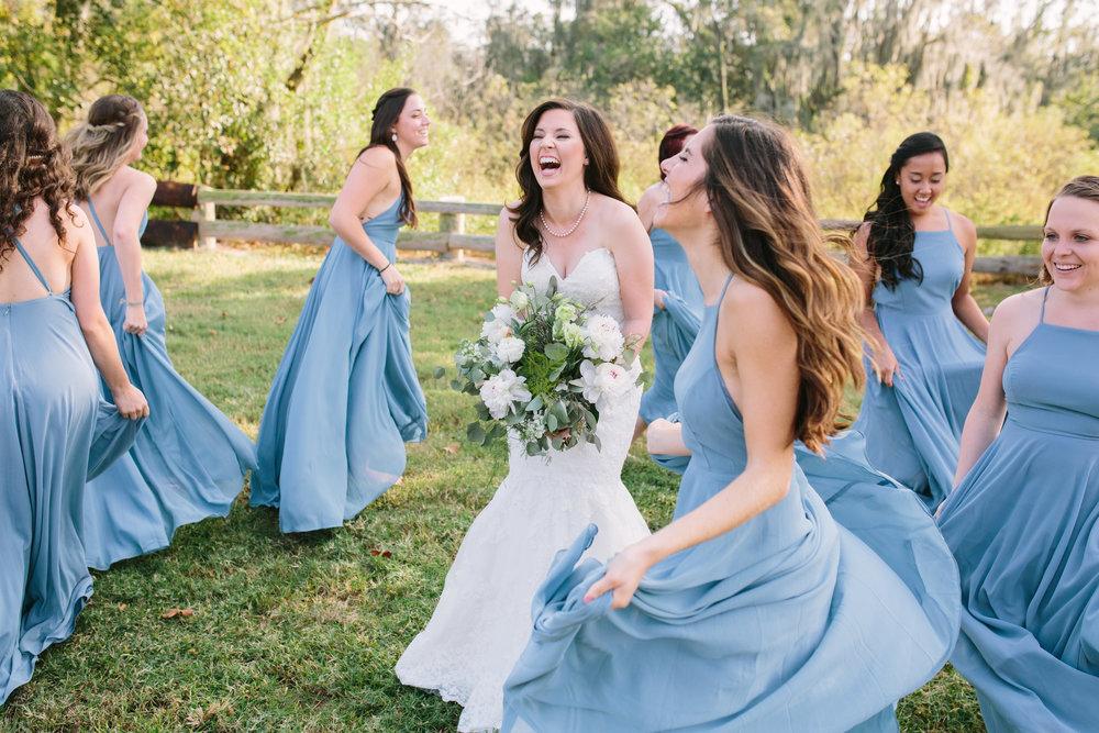 Bridesmaids | Florida Rustic Barn Weddings | Plant City, Florida Wedding Photography | Benjamin Hewitt Photographer