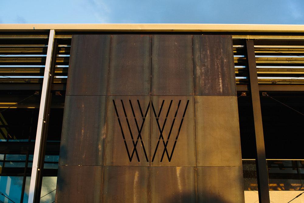 Armature Works Logo on building Wedding Tampa