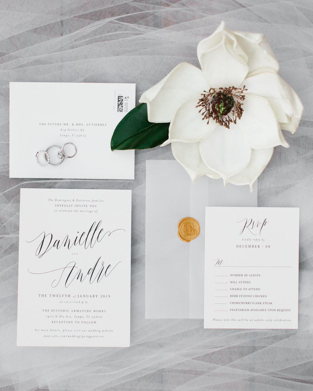 Armature Works Wedding Invitation Suite Tampa