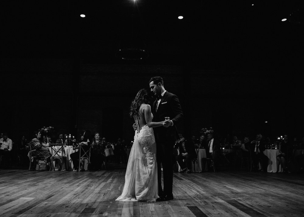 First Dance Bride and Groom Armature Works Wedding