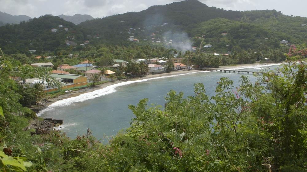 Sauteurs Bay, the northern tip of Grenada. - Video Still, Tom Miller